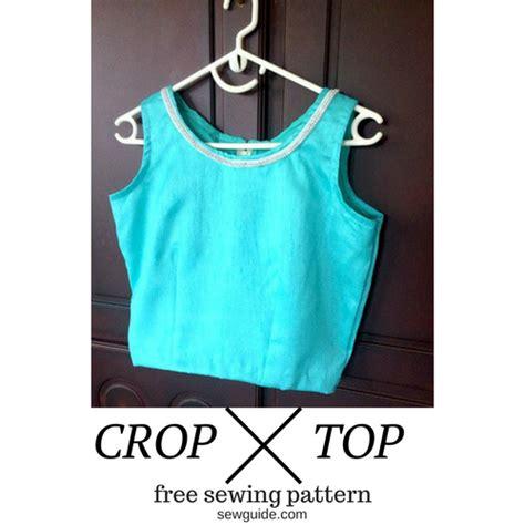 Sewing Pattern Crop Top | make a crop top free sewing pattern tutorial sew guide