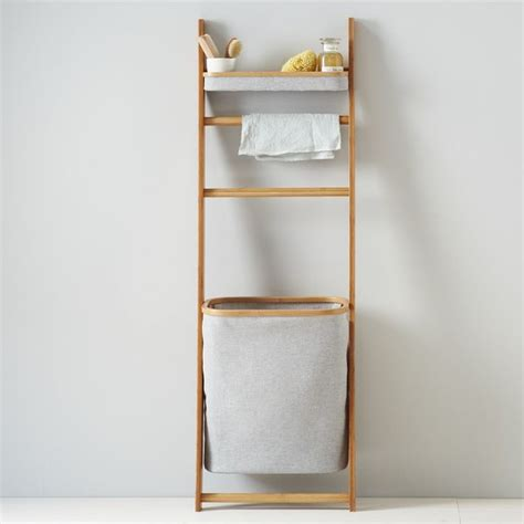 Bathroom Storage Shelf leaning bath shelf contemporary bathroom cabinets and shelves by west elm