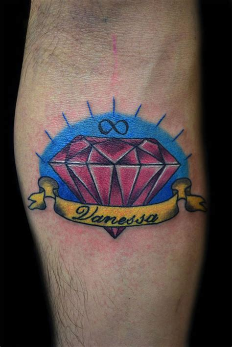 diamond tattoo with name 30 attractive diamond tattoos creativefan