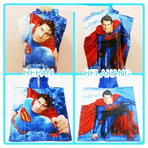 Handuk Mandi Anak 3 9 Tahun Hanaroo Hoody Towel jual handuk ponco anak aneka karakter cars frozen hello princess ag collection