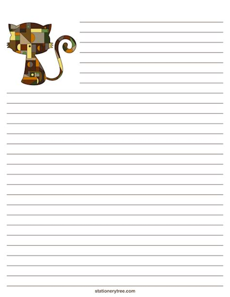 lined paper with cat border best photos of cat writing paper template cat in the hat