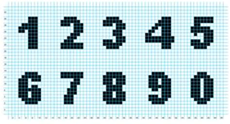 Knitting Pattern Numbers | knitted numbers knit and crochet pinterest