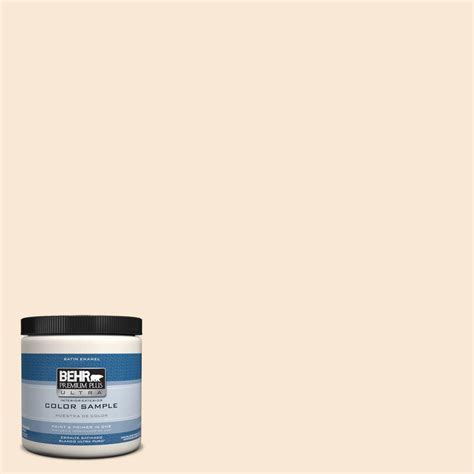 behr premium plus ultra 8 oz ppu4 9 cafe interior exterior satin enamel paint sle