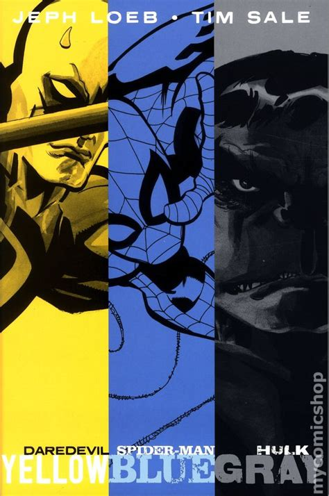 daredevil yellow hc daredevil yellow spider man blue hulk gray hc 2014 marvel by jeph loeb and tim sale comic books