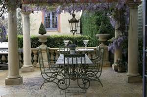 Outdoor French Furniture - tables refectory table 6 8 base hand forged steel only a few at this price