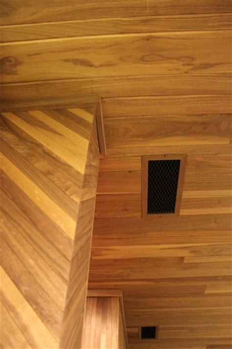mahogany tongue groove ceiling panels traditional