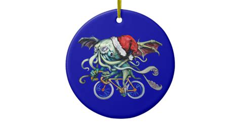 christmas cthulhu ceramic ornament zazzle