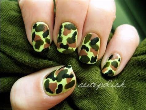 easy nail art by cutepolish easy camouflage nail art youtube