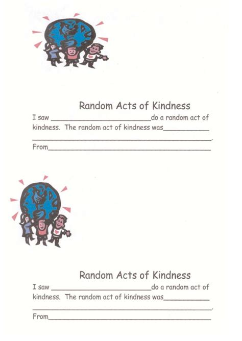 random acts of kindness template acts of kindness quotes like success