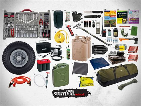 survival truck gear 107 pieces of survival gear for your car home and to go