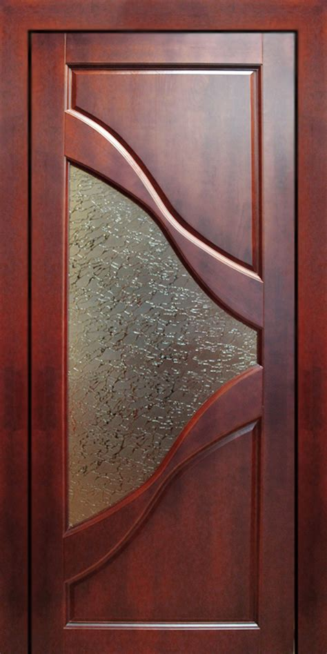Wood Interior Doors With Glass Modern Wooden Door With Glass