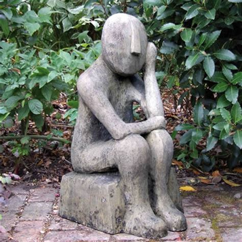 skulpturen garten modern skulptur kykladischer denker englischer antik steinguss