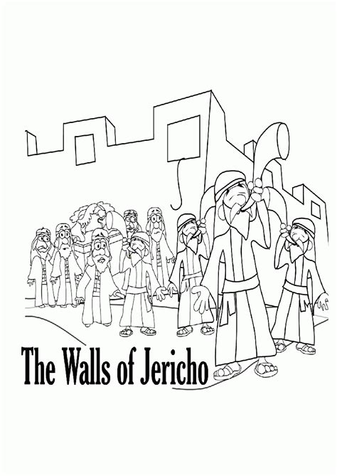 printable coloring pages walls of jericho az coloring pages
