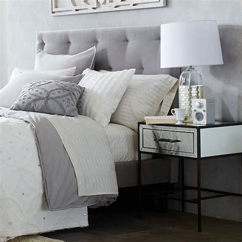 gray velvet headboard inspirations and diamond tufted diamond tufted headboard west elm