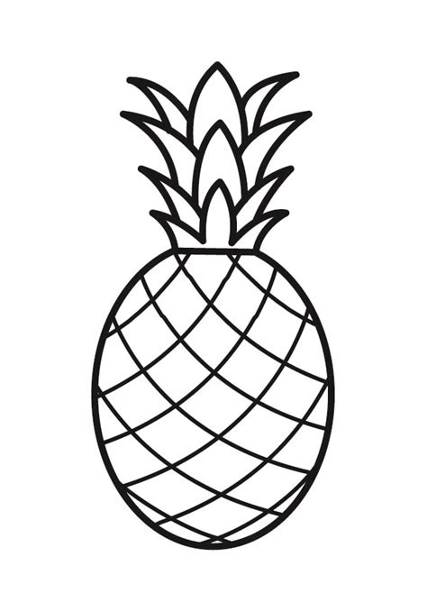 pineapple color pin pineapple coloring page on