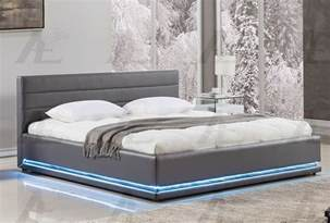 Platform Bed With Lights Evita Modern Platform Bed With Lights