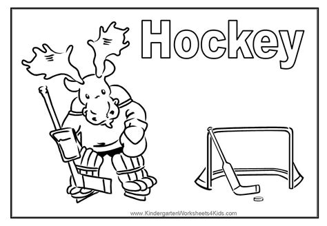 preschool hockey coloring pages sport coloring pages