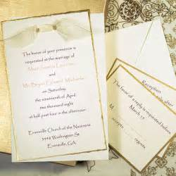 Gold deckled invitation kit 48 00