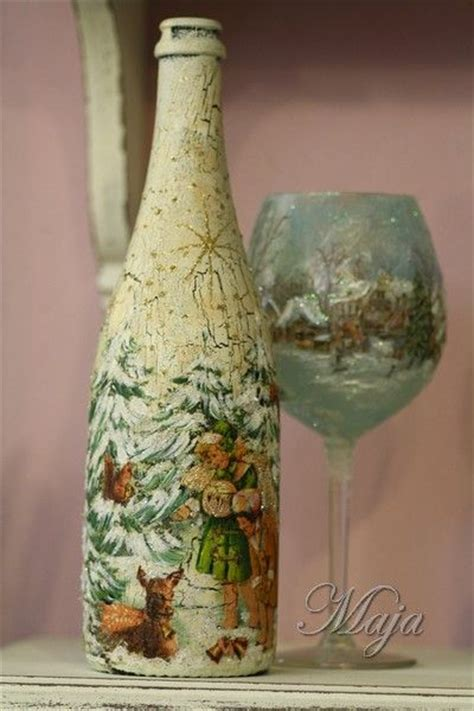Bottle Decoupage - 17 best images about decoupage on a bottle on