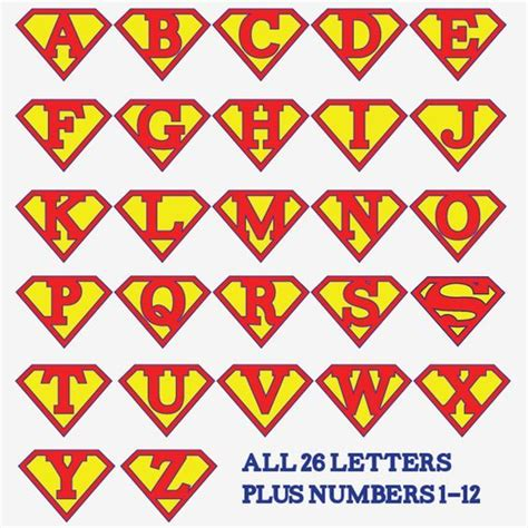 superman alphabet letters template search