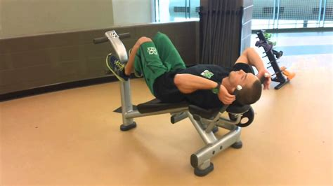 life fitness ab crunch bench youtube