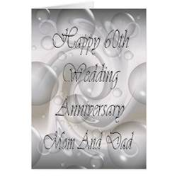 60th wedding anniversary for and card zazzle