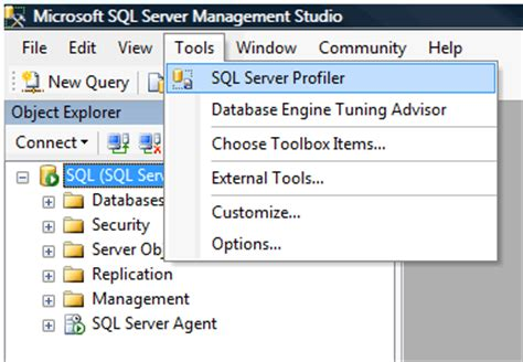 sql query tuning tutorial sql server 2008 profiler and tuning wizard getting