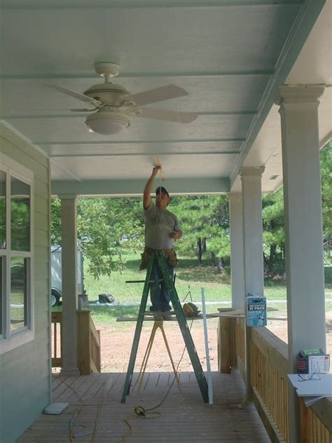Porch Ceiling Ideas by Remodelaholic Blue Porch Ceiling