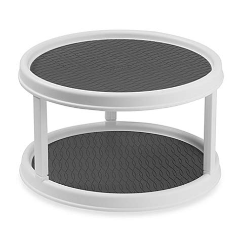 bed bath and beyond turntable buy copco two tier non skid cabinet turntable from bed