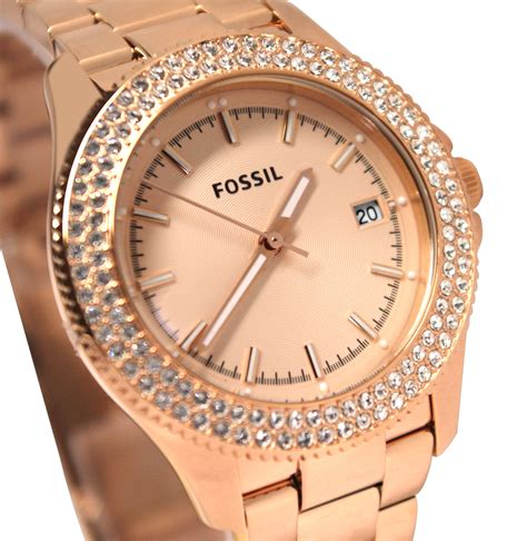 Fossil 4454 Womans fossil womens retro traveler stainless steel martlocal