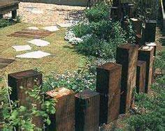 Railway Sleepers Dorset by Recycled Railway Sleepers Used As Feature Posts