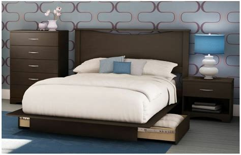 piece queen brown full bedroom set furniture dresser bed storage platform ebay