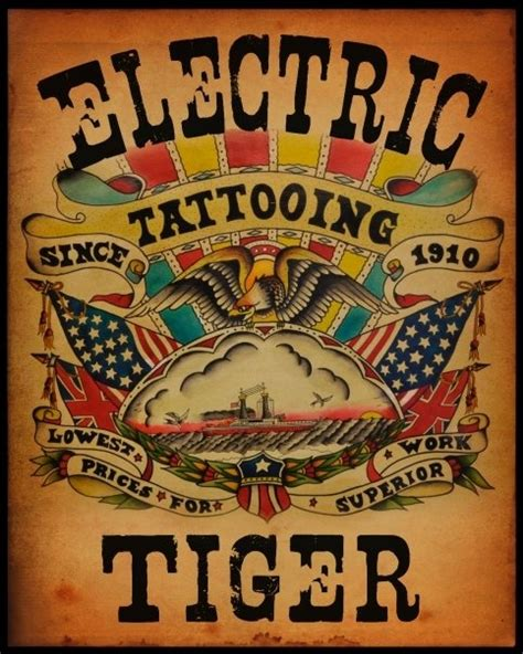 electric tiger tattoo 54 best electric tiger images on