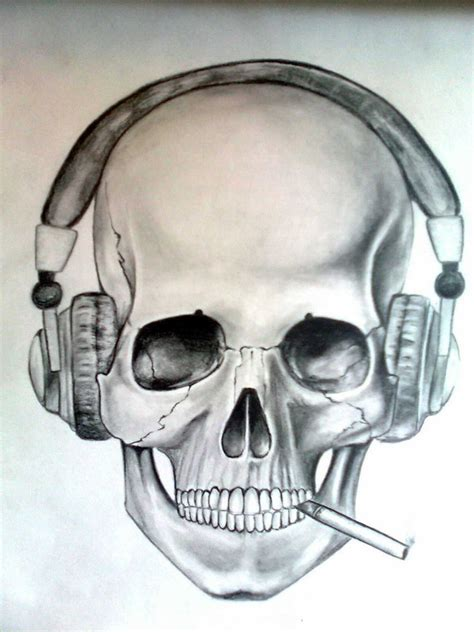 Skull Headphones skull headphones by skrapfal on deviantart