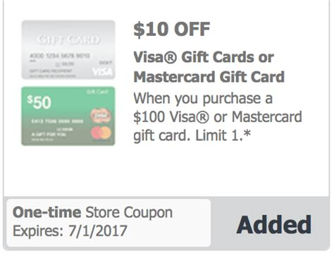 Randalls Gift Card Deals - safeway vons 10 off 100 visa mastercard gift card randall s albertson s tom