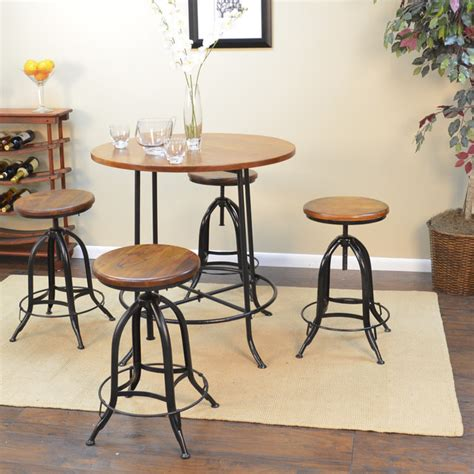 Indoor Bistro Table Set Hadley 36 Inch Bar Table Contemporary Indoor Bistro Sets By Overstock