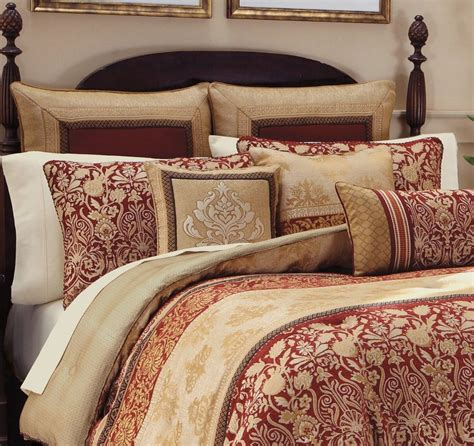 gold imperial comforter set croscill renaissance queen comforter shams bedskirt 4pc