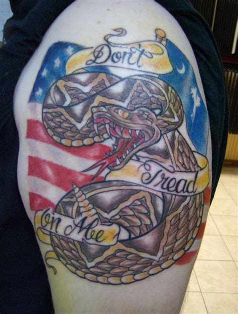 dont tread on me tattoos 20 don t tread on me designs flags american flag
