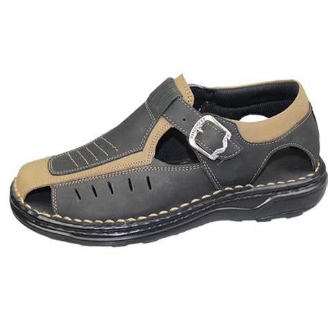 wide fit shoes mens buckle sandals walking fashion casual summer