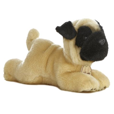 size pug stuffed animal realistic stuffed pug 8 inch plush by