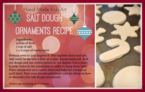 homemade salt dough christmas ornaments kids steam lab
