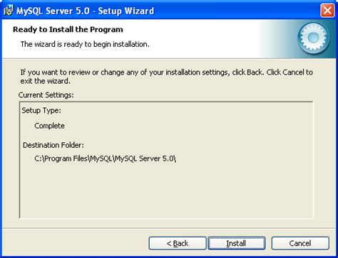 configure xp mysql the steps and how to install setup configure test and