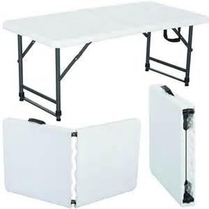4 Foot Folding Table 4ft Folding Table Stall Market Fete Fair Cing Tradeshow Foldaway Car Boot Ebay
