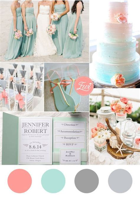 wedding color combinations soft and wedding colors sea foam wedding