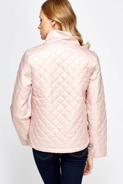 light pink jacket light pink quilted jacket just 163 5