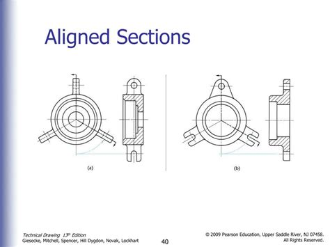Aligned Section View by Ppt Sectional Views Powerpoint Presentation Id 371747