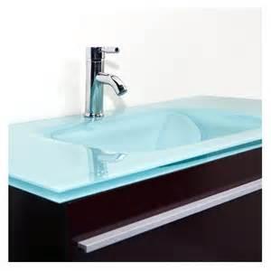 meuble vasque verre salle de bain