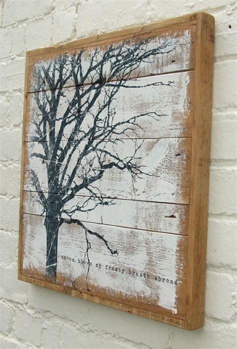 tree painted on wood ideas reclaimed wood painting reclaimed wood walls reclaimed wood wall and