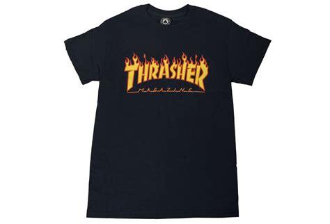 Thrasher Blue Tshirt thrasher logo t shirt blue alltricks