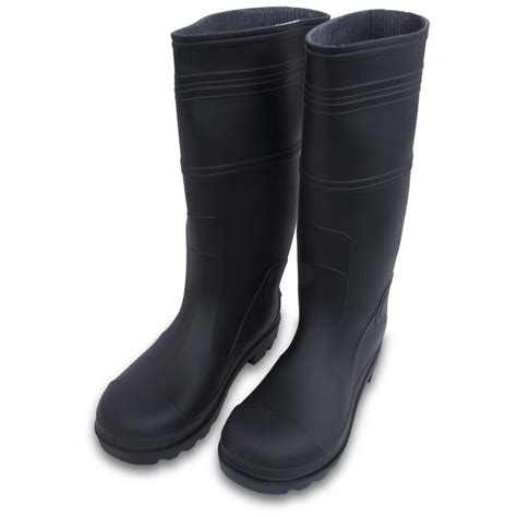 rubber boots shop marshalltown lined black rubber boots 12 at lowes